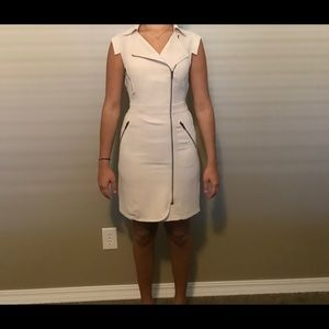 Bebe tan zip up mini dress